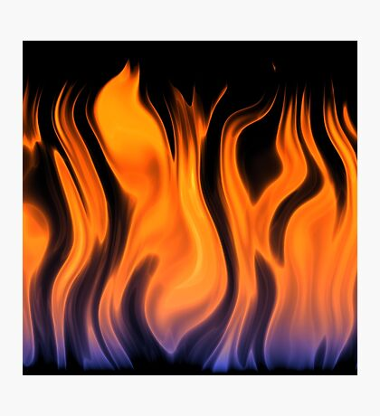 red flame background Photographic Print