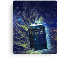 Doctor Who - Tardis in the Space Canvas Print