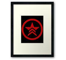 Mass Effect - Bad Karma Symbol Framed Print