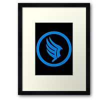 Mass Effect - Good Karma Symbol Framed Print