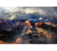 Clouds Part Over the Canyon Photographic Print