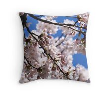Blooming Cherry Blossom Throw Pillow