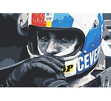 Francois Cevert Helmet Photographic Print
