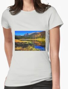 Autumn Reflections Womens Fitted T-Shirt