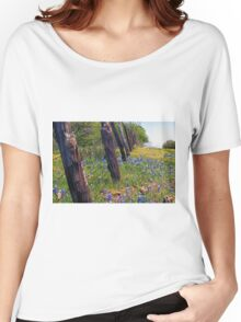 Flowers and Fence Posts Women's Relaxed Fit T-Shirt
