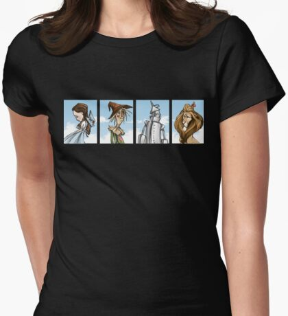 Wizard of Oz Characters T-Shirt Womens Fitted T-Shirt