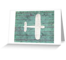 Rustic Airplane Greeting Card