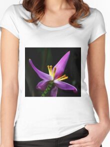 Tropical Flower Women's Fitted Scoop T-Shirt