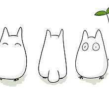 Mini White Totoro Design by niymi