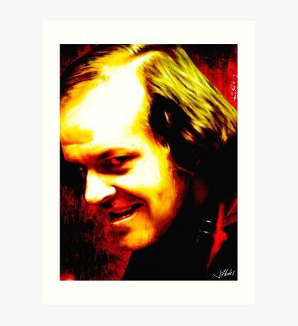 Horror Icons: Jack Torrance - The Shining Art Print