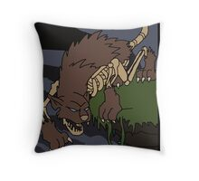 Bone wolf  Throw Pillow