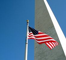 Flag and Monument by Krista  Mevis