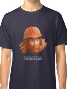 EPCOT Norway Pavilion MAELSTROM NEVER FORGET - Retro Disney - Construction Guy Classic T-Shirt