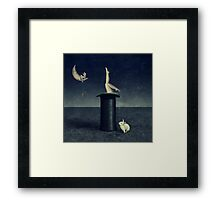the rabbithole Framed Print