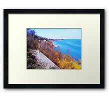 The Scarborough Bluffs...Toronto, Ontario, Canada Framed Print