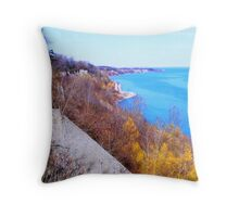 The Scarborough Bluffs...Toronto, Ontario, Canada Throw Pillow