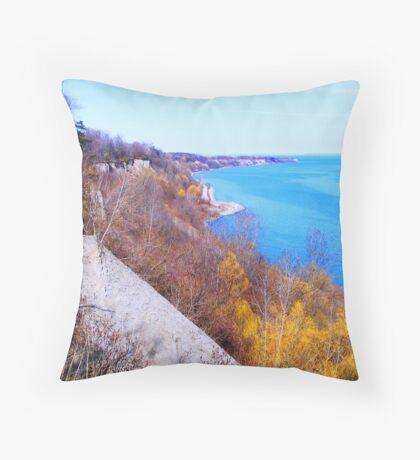 The Scarborough Bluffs...Toronto, Ontario, Canada Throw Pillow