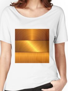gold metal background Women's Relaxed Fit T-Shirt