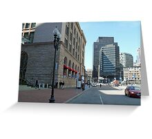 South Station, Summer Street, April in Boston Series 2009 Greeting Card
