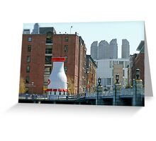 The Hood Milk Bottle, Boston Harbor, April in Boston Series 2009 Greeting Card