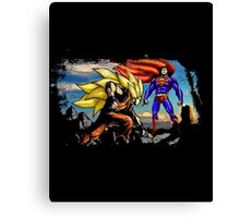 Dragon Ball Ft Superman - Epic Battle Canvas Print