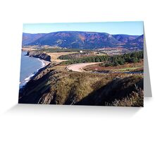 Between Mountains and Sea Greeting Card