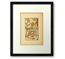 The Golden Primer by John Miller Dow, Illustrated by Walter Crane 1884 10 - Ball Wall Tall Fall Squall Call Framed Print