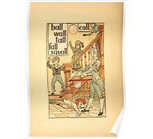 The Golden Primer by John Miller Dow, Illustrated by Walter Crane 1884 10 - Ball Wall Tall Fall Squall Call Poster