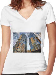 Denver World Trade Center Women's Fitted V-Neck T-Shirt