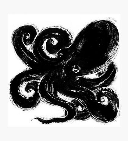 Inktopus - Sumi Octopus Photographic Print