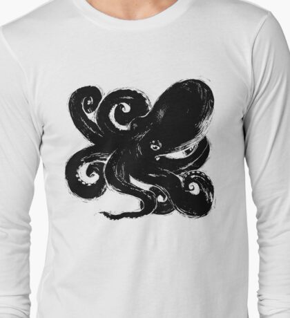 Inktopus - Sumi Octopus Long Sleeve T-Shirt