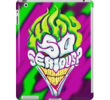 Batman - Joker Why So Serious iPad Case/Skin