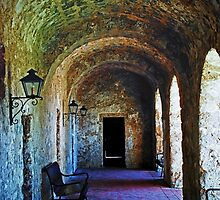 Mission Concepcion Cloister by Brian Kerls  photography