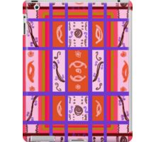 Curvy Plaid Abstract Feminine Folk Art by Kristie Hubler iPad Case/Skin