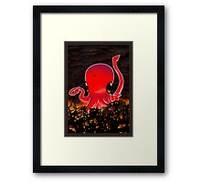 Octopus Destroying a City No. 2 Framed Print