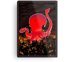 Octopus Destroying a City No. 2 Metal Print