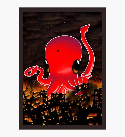 Octopus Destroying a City No. 2 Photographic Print