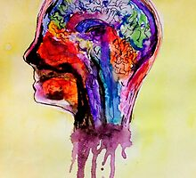 Watercolor Brain Scan by Reur