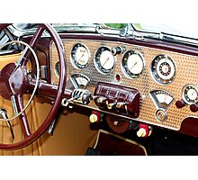 1936 Cord 810 Dashboard Photographic Print