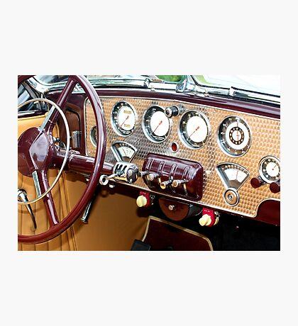 1936 Cord 810 Dashboard Photographic Print