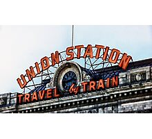 Union Station - Travel by Train Photographic Print