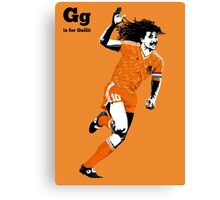 G is for Gullit Canvas Print