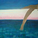 The still sea is darker now.. by Clovix
