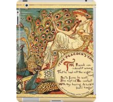 Walter Crane's Painting Book 1889 21 - The Peacock's Complaint Color iPad Case/Skin