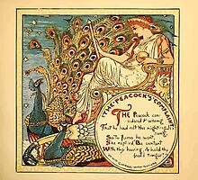 Walter Crane's Painting Book 1889 21 - The Peacock's Complaint Color by wetdryvac
