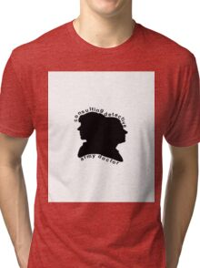 Consulting Detective and Army Doctor (Sherlock/John) Tri-blend T-Shirt