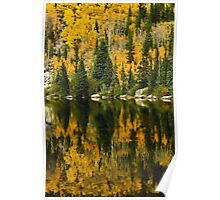 Autumn Reflections at Bear Lake Poster
