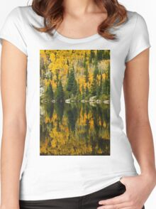 Autumn Reflections at Bear Lake Women's Fitted Scoop T-Shirt