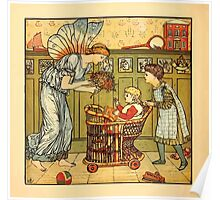Walter Crane's Painting Book 1889 12 - For the Child Color Poster