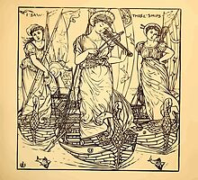 Walter Crane's Painting Book 1889 41 - I Saw Three Ships Lines by wetdryvac